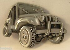 Jeep Off Road Vehicle Wrangler Belt Buckle to attach to own belt 4x4 Four x Four