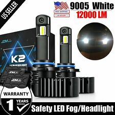 JDM ASTAR 2x K2 12000LM HB3/9005 LED Headlight High Beam Bulbs Xenon White 6000K