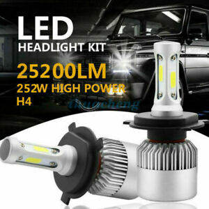 2x H4 LED Car 252W 25200LM Headlight Conversion Kit Bulbs Hi-Lo Beam 6500K White