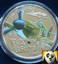 2010 GUERNSEY £5 Five Pound Battle of Britain Hawker Hurricane Coin