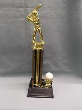 baseball trophy gold and black award ball trim black base