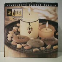SAN MIGUEL - Sentiments #633614 - Candle Garden - NEW Open Box