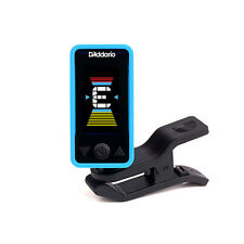 Planet Waves Eclipse Clip-On Chromatic Headstock Guitar Bass String Tuner Blue