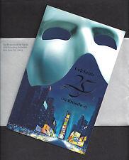 "Andrew Lloyd Webber ""PHANTOM OF THE OPERA"" Celebrating 25 Years 2013 Invitation"
