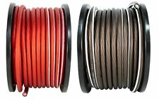 4 AWG 100FT Red + 100FT Black Power Ground Wire DS18 Cable Copper Mix True GA