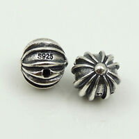 2 PCS Genuine Sterling Silver 925 Stamp Cross Bead Charm Celtic 9x9mm WSP186X2