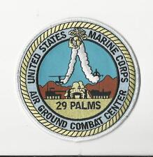 USMC PATCH - MARINE CORPS  AIR GROUND COMBAT CENTER 29 PALMS