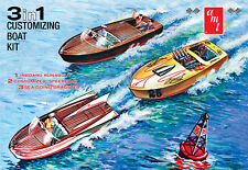 AMT 1/25 3 In 1 Customizing Boat Kit Speedboat Runabout Dragster MODEL KIT 1056