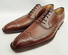 a.testoni Brown Leather Brogues Shoes UK10 EU44 US11 New