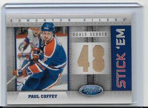 2011-12 Panini Certified Paul Coffey Stick Em Game Used Stick Die Cut 2/10 Oiler