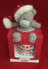 ME TO YOU BEAR TATTY TEDDY HAPPY CHRISTMAS MUG & RED XMAS HAT PLUSH IN BOX GIFT