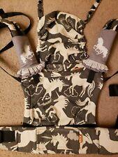 Free To Grow Half Wrap Conversion Tula Baby Carrier Lovaloom Charcoal Unicorns