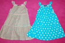 George 2 100% Cotton Sundresses 1 Striped 1 Spotted Age 12-18 Months BNWT