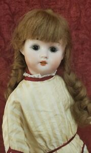 Antique German Bisque Socket Head Doll On Composition 5 Piece Body Mystery Maker