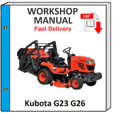 KUBOTA G23 G26 G-23 G-26 VEHICLE SERVICE REPAIR WORKSHOP MANUAL