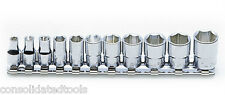 KOKEN TOOLS 1/4 DRIVE PROFESSIONAL METRIC SOCKET SET ON RAIL RS2400M/11