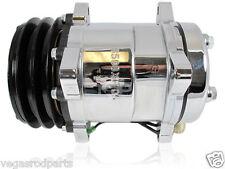 Sanden style 508 12V a/c Compressor Chrome V Belt GM Chevrolet Ford Universal