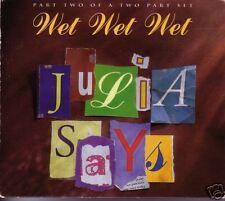 Wet Wet Wet Julia Says 2 LIVE & UNRELEASE UK CD single