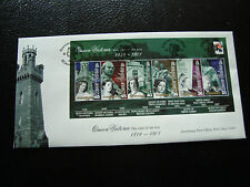GUERNESEY - enveloppe 1er jour 22/1/2001 (yt bloc n° 44) (cy25) guernsey