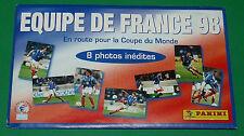 PANINI FOOTBALL 1998 POCHETTE NEUVE EQUIPE FRANCE 98 8 PHOTOS COUPE DU MONDE