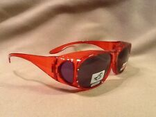 Polarized TAC put for over your RX (red with rhinestones )