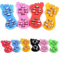12pcs Wholesale Jewelry Lots Silver P Crystal Bell Foot Toe Rings W Display Pads