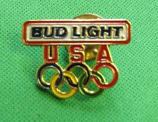 Bud Light USA Olympic Pin 1  inch