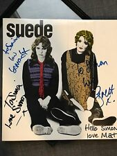 Suede Metal Mickey FULLY SIGNED / AUTOGRAPHED - Including Bernard Butler