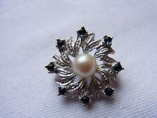Ausgefallener Silberclip Perlen Kette Anhänger Clip Pendant Perlenclip  Nr.68