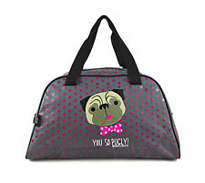 DAVID AND GOLIATH - YOU SO PUGLY LARGE  GYM/OVERNIGHT/TRAVEL BAG - GREY