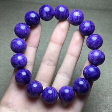 14mm Top Quality Natural Purple Charoite Crystal Round Beads Bracelet AAAA
