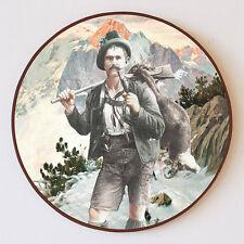 Heimkehr von der Pirsch Gemse Gams Jagd Wilderer Pfeife Schützenscheibe 41cm 64