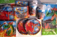 DRAGONS Birthday Party Supply DELUXE Kit w/ Loot Bags & Invitations