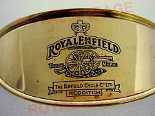 ROYAL ENFIELD CANNON TRADE MARK ENGRAVED / EMBOSSED  BRASS METAL HEADLAMP SHADE