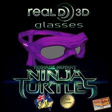Ninja Turtles Donatello Real D 3D Glasses