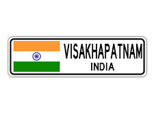 Visakhapatnam, India Street Sign Indian Flag City Country Road Wall Gift