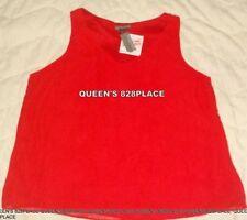 Nwt Covington Womens XL Petite Red V-Neck Tank Top Shirt blouse Lined sleeveless