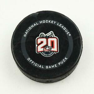 2020-21 Alex DeBrincat Chicago Blackhawks Game-Used NHL Goal-Scored Puck -Kane A
