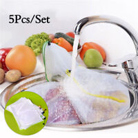 5Pcs Reusable Mesh Bag for Grocery Shopping Fruit Vegetable Toys Storage Bags