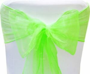 Chair Decorative Organza Sashes Bows Designed for Wedding Events Banquet Kitchen