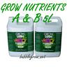 GROWLUSH HYDROPONICS GROW PART A&B 5L NUTRIENT