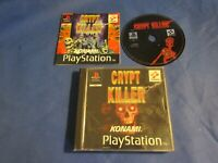 crypt killer black label PlayStation PS1 PSX boxed W/ manual PAL UK game
