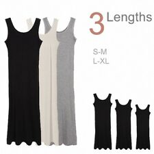 Women's Baisc Stretchy Sleeveless Extra Long Loose Midi Cami Tank Long Dress