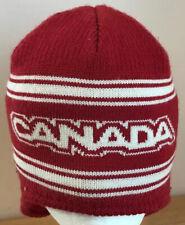 Canada Winter Olympic Cap Hat 2006 Turin Merino Wool HBC