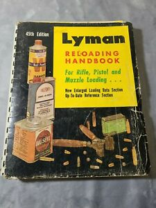 Lyman 1970 Reloading Handbook #45 vintage manual with annotations
