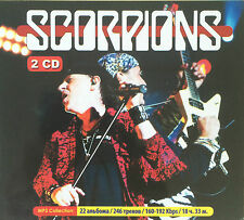 """SCORPIONS """"THE MP3 COLLECTION"""" RARE DOUBLE CD COMPRENANT 22 ALBUMS !"""