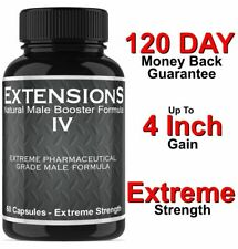 MALE PENIS ENLARGER - LONGER Extensions IV - 4 INCH GROWTH - ENLARGEMENT PILLS