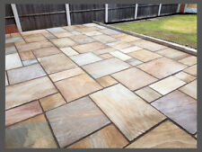Hand-Cut Natural Stone Paving - Rippon Sandstone | Garden Patio Flags Slabs