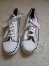 M&S Bronze Lace up Casual Trendy Trainers Shoes (NEW ) size 4 (Euro 37) £12.00