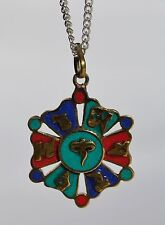 Necklace Handcrafted Nepali Style Pendant Stone Jewellery